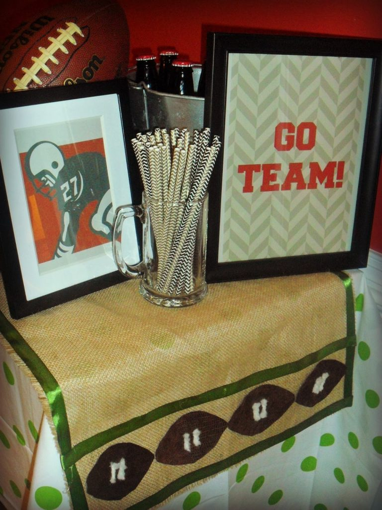 Football Table Runner - styled