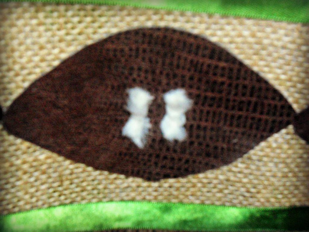 Football Table Runner - yarn football threads