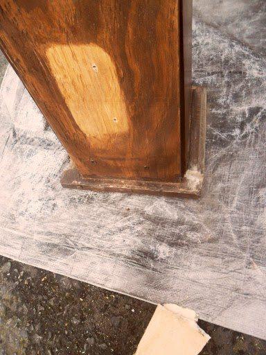 rustic headboard - broken foot