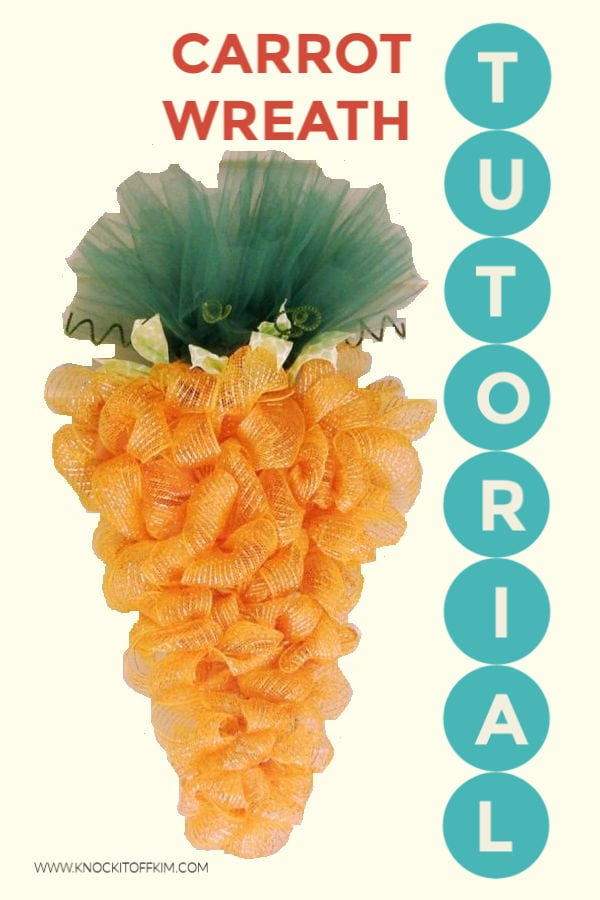 Carrot Wreath Tutorial with Free Wreath Form How-to