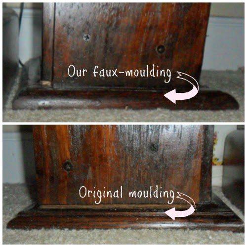 rustic headboard - showing repair