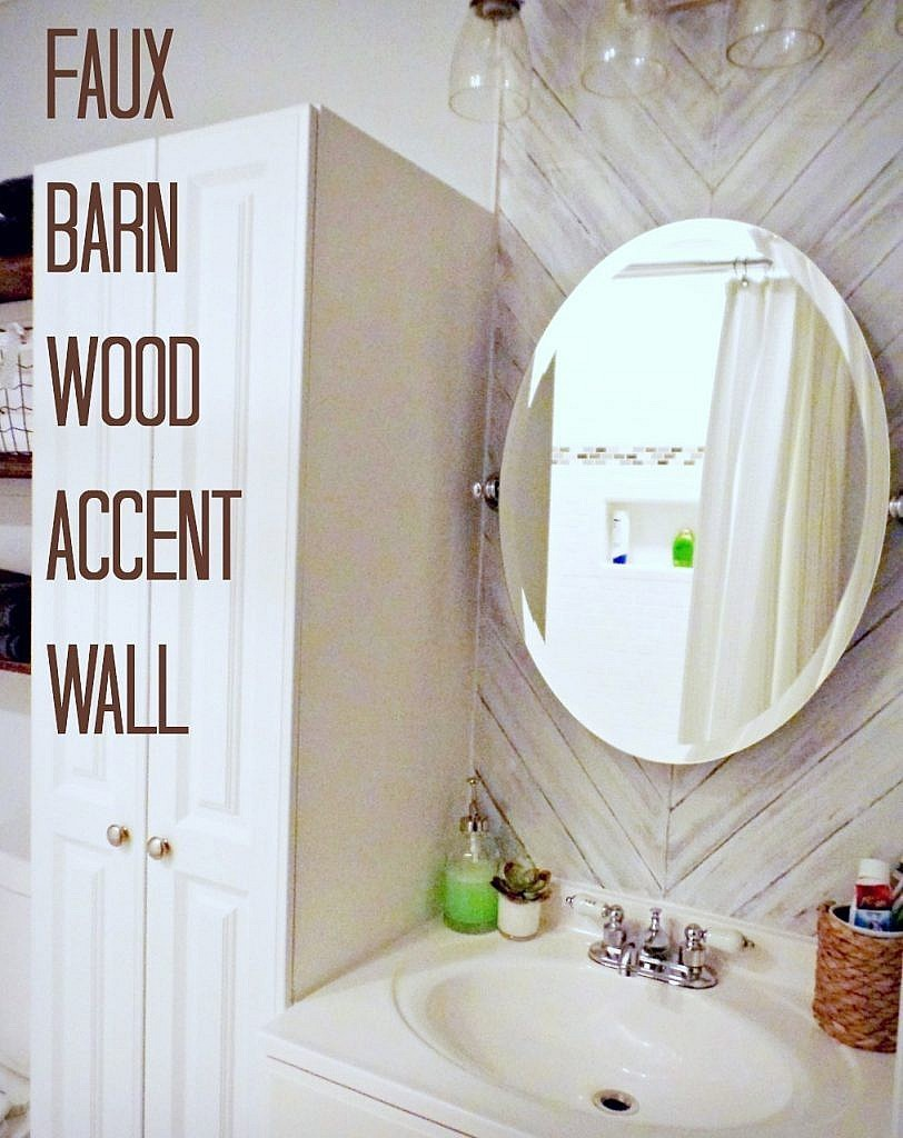 Paint your wall to look like barn wood
