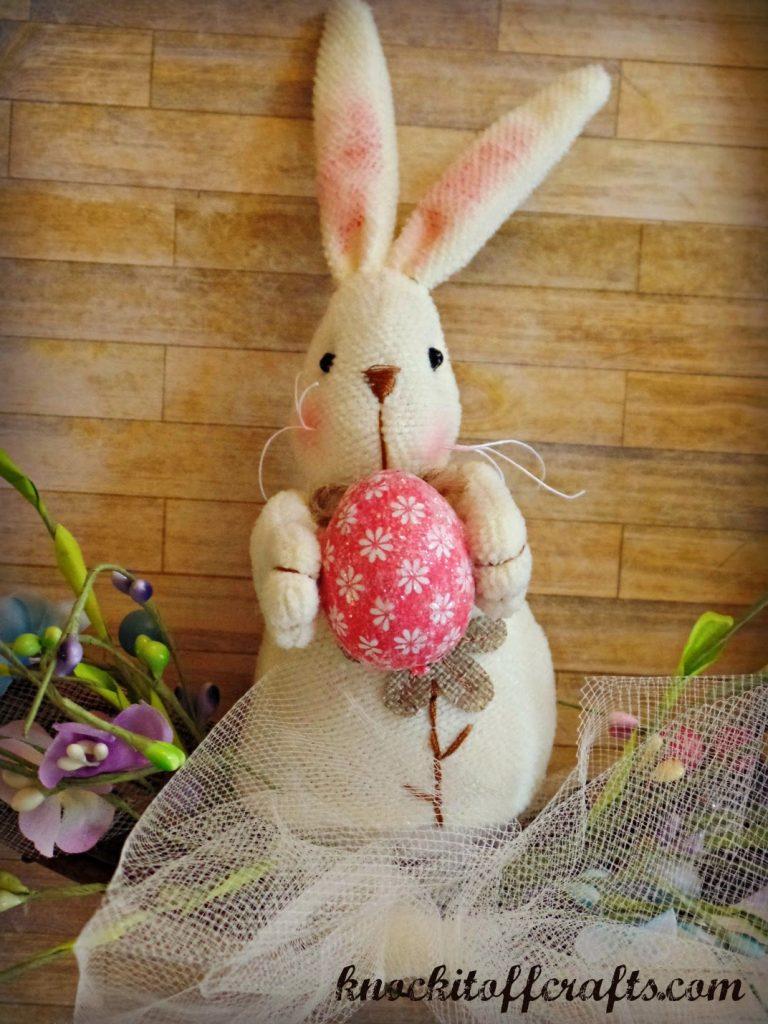 easter wreath-Bunny