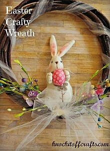 Pottery Barn Kids inspired Easter Crafty Wreath