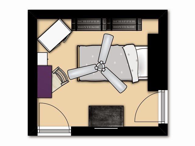 bohemian bedroom - before 2