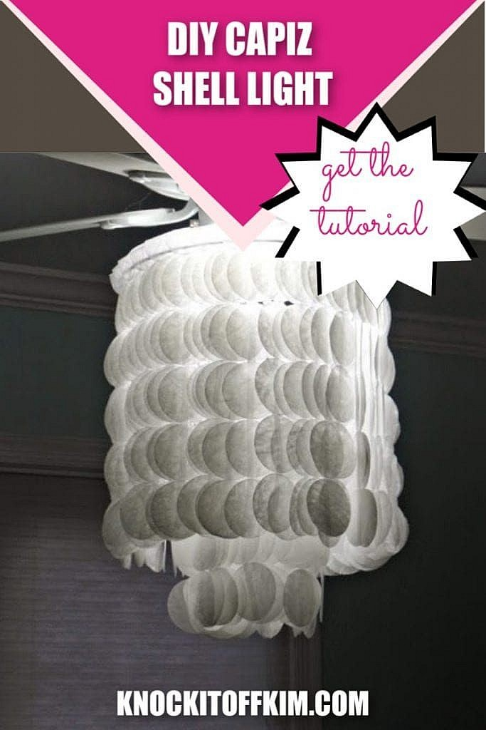DIY CAPIZ SHELL LIGHT