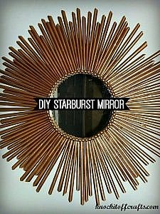 How to Make a DIY Gold Sunburst Mirror