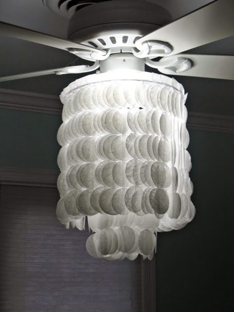 Make Diy Chandelier Faux Capiz Shell Easy Project