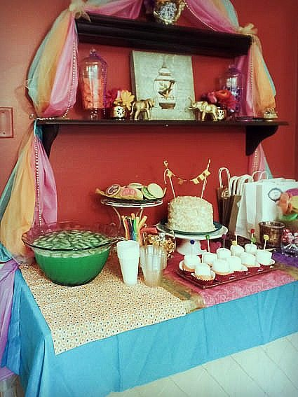 bollywood theme party - dessert table
