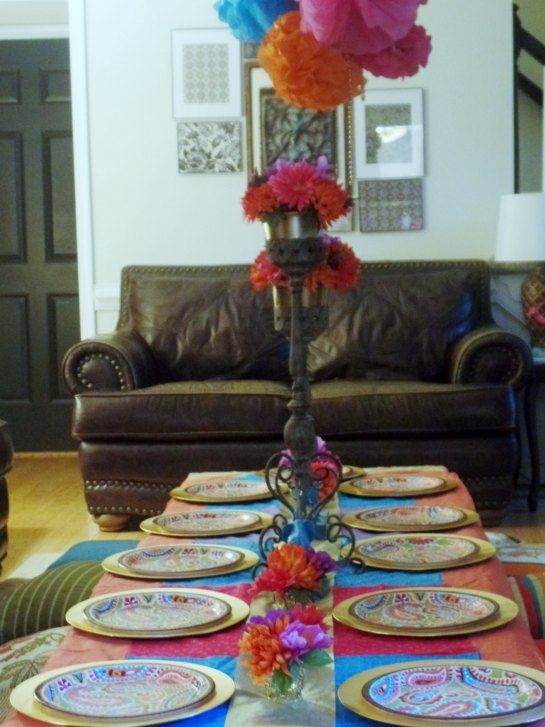 Bollywood theme table setting