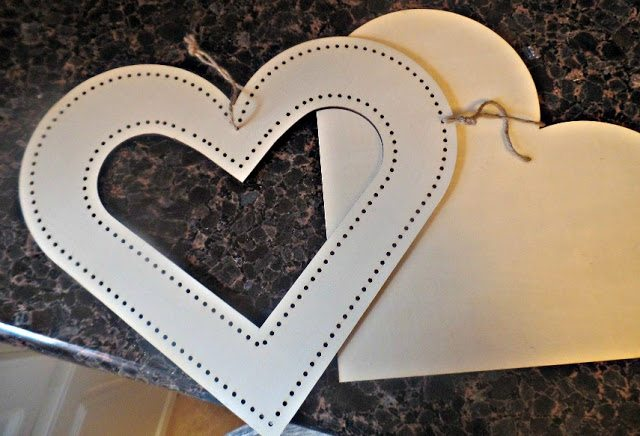 valentines day decor - heart cutouts