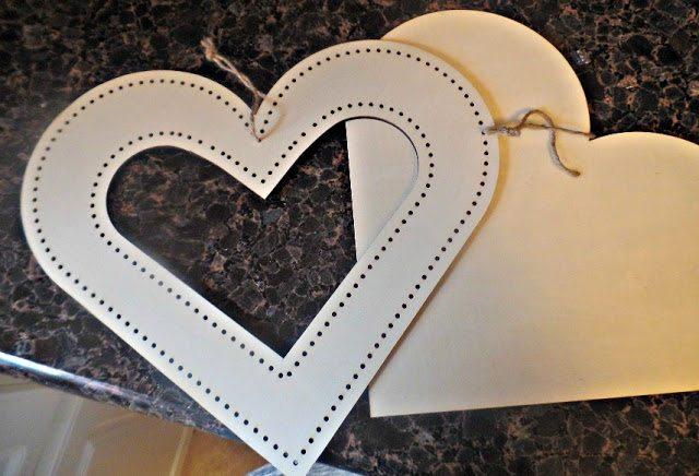 valentines day decor - heart cutouts