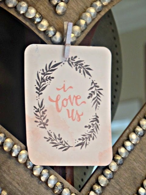 valentines day decor - image card