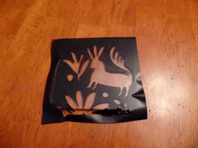 otomi coaster - vinyl image on tile