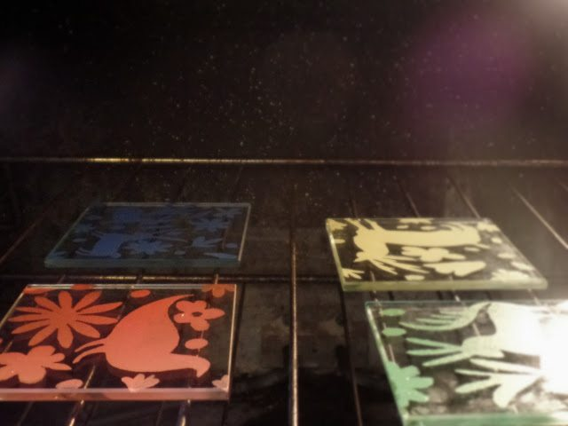 otomi coasters - bake to set paint