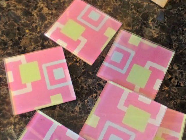 otomi print coasters - before