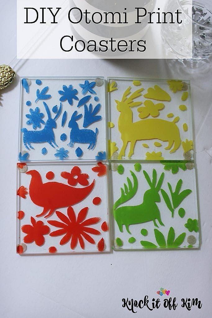 otomi print coasters