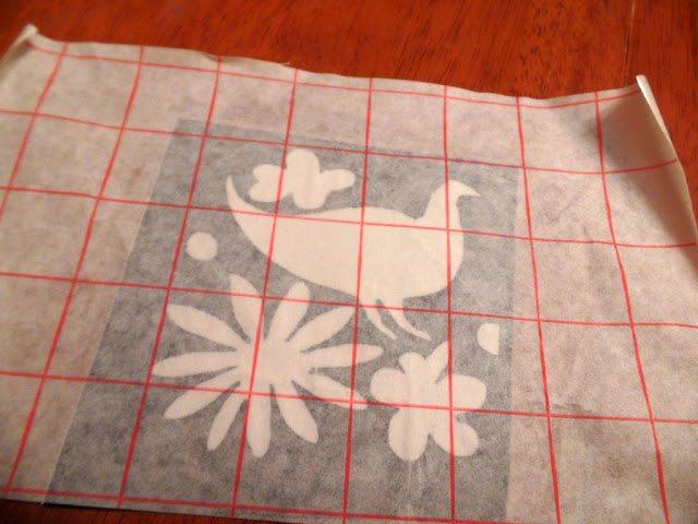 otomi coasters - transfer paper transferring design