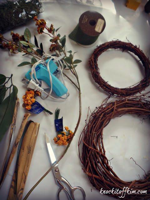 grapevine bunny wreath-materials