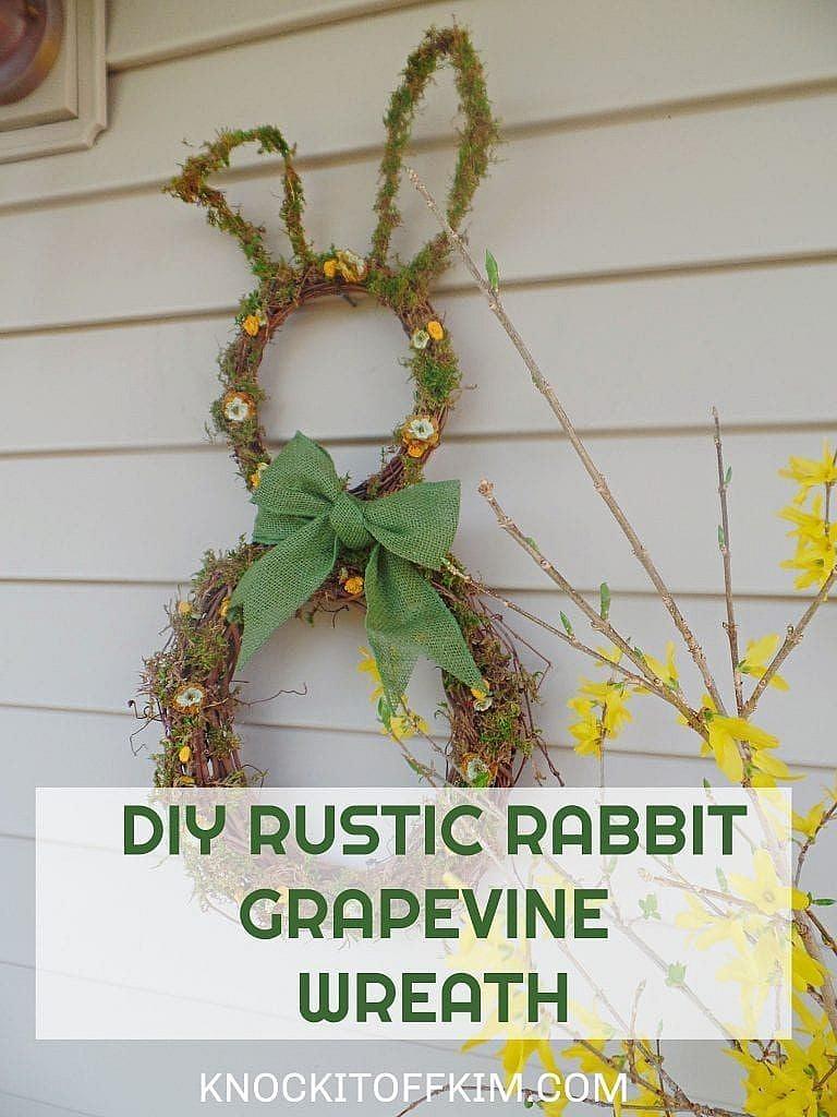 grapevine wreath rabbit