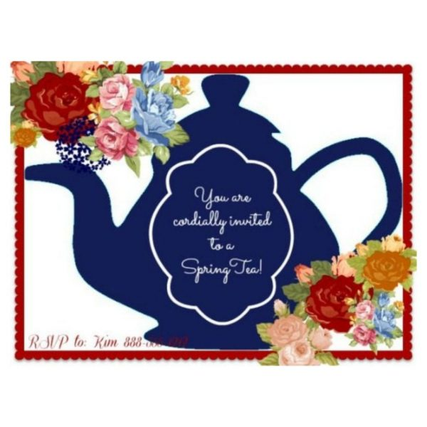 Spring Tea Party Invite - Feature