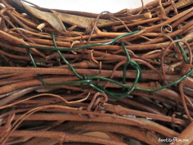 grapevine bunny wreath-attachwire