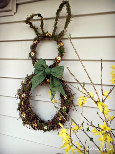 grapevine bunny wreath - full view