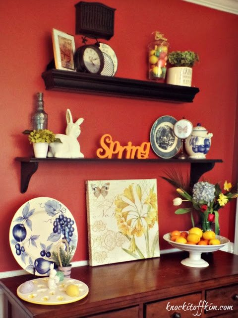 spring kitchen decorating