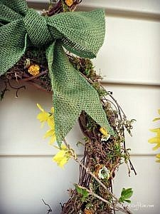 Rustic Rabbit Grapevine Wreath for Spring