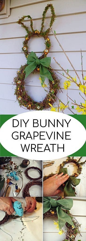 bunny grapevine wreath