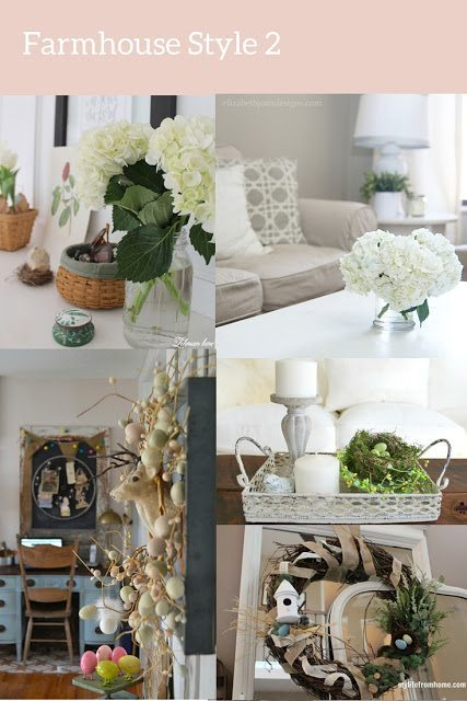 farmhouse spring decor style