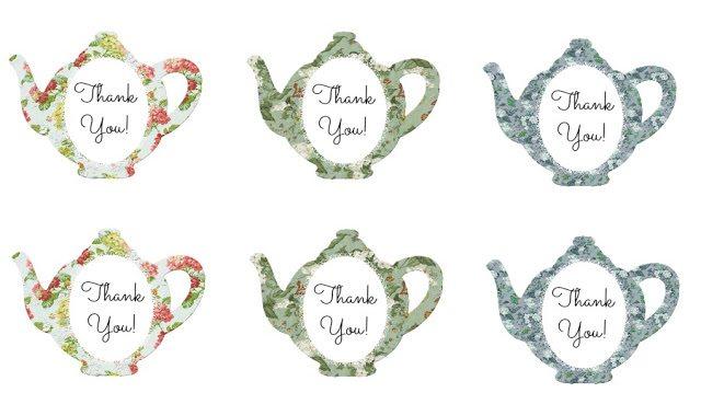 spring tea-labels