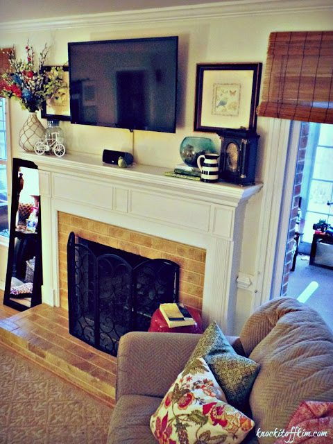 Spring decorating ideas - mantel chair