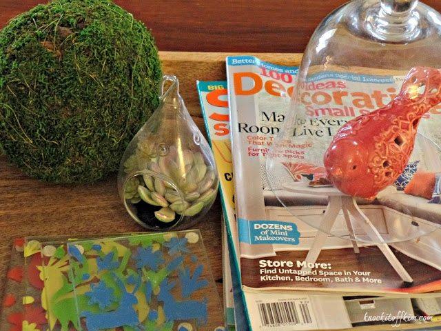 Spring decorating ideas - mantel table