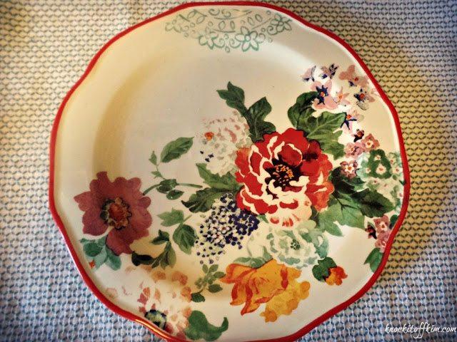 spring tea - plate