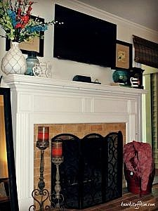Our Spring Mantel