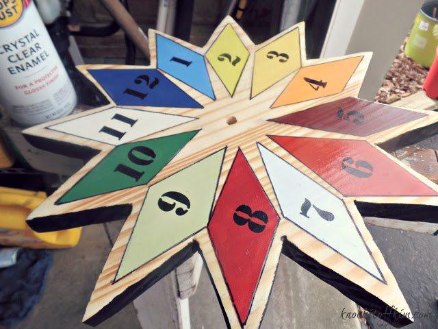 diy starburst wall clock - clear enamel