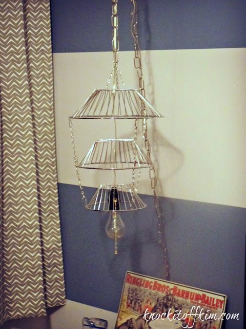 Tiered Fruit Basket Repurpose Lamp