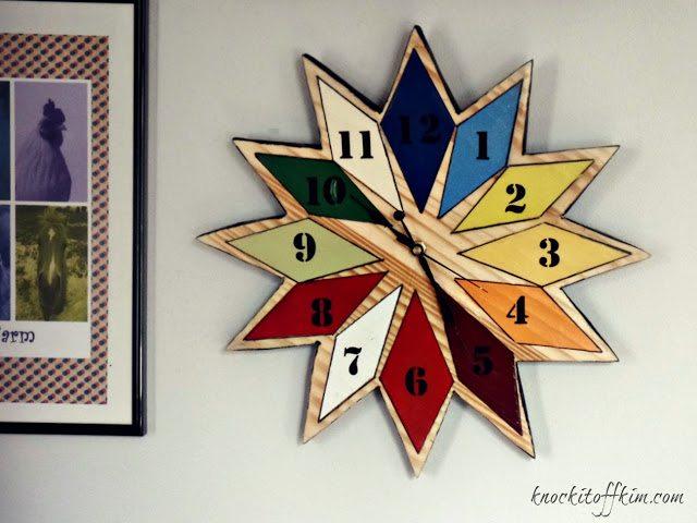 diy starburst wall clock - chromatic