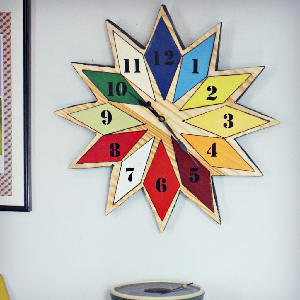 diy starburst wall clock - feature