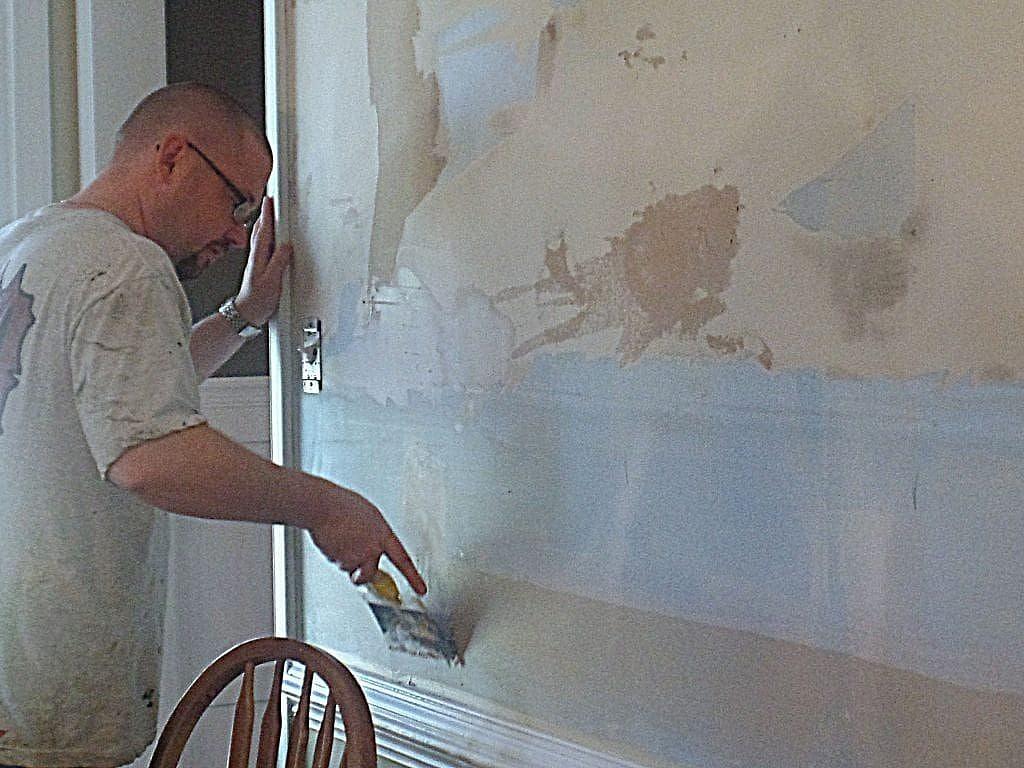 wall repair - fill large gouges