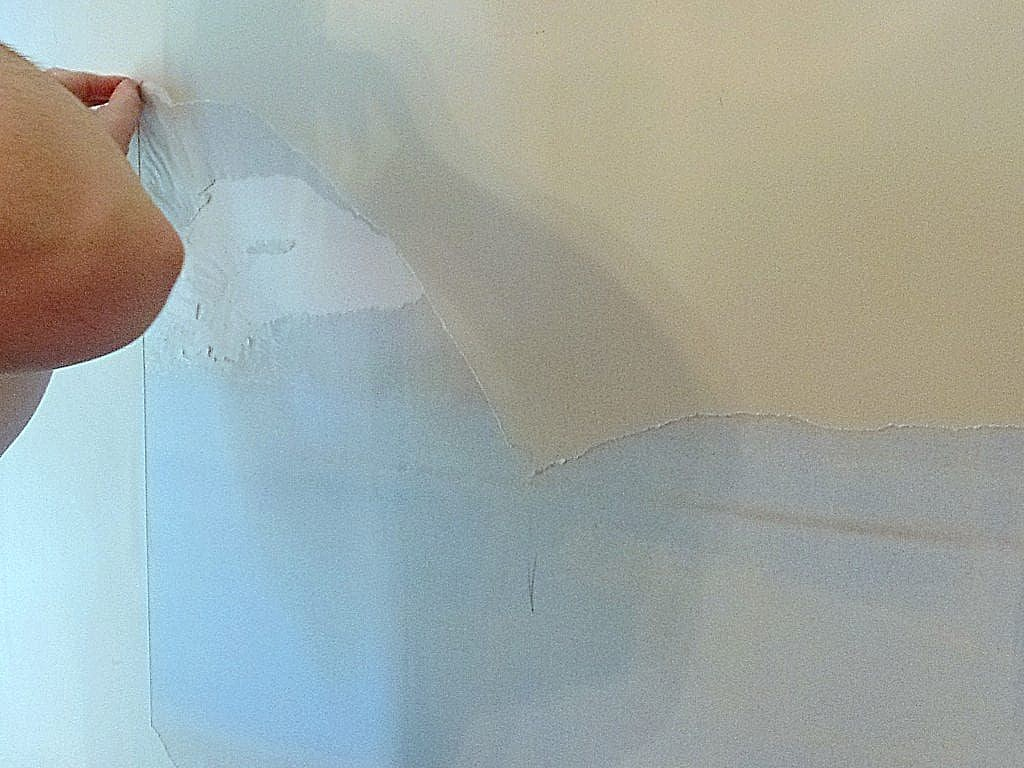 DIY Wall repair after wallpaper removal