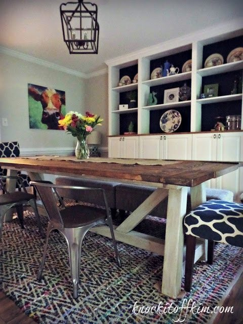 Dining table with Folding Sides