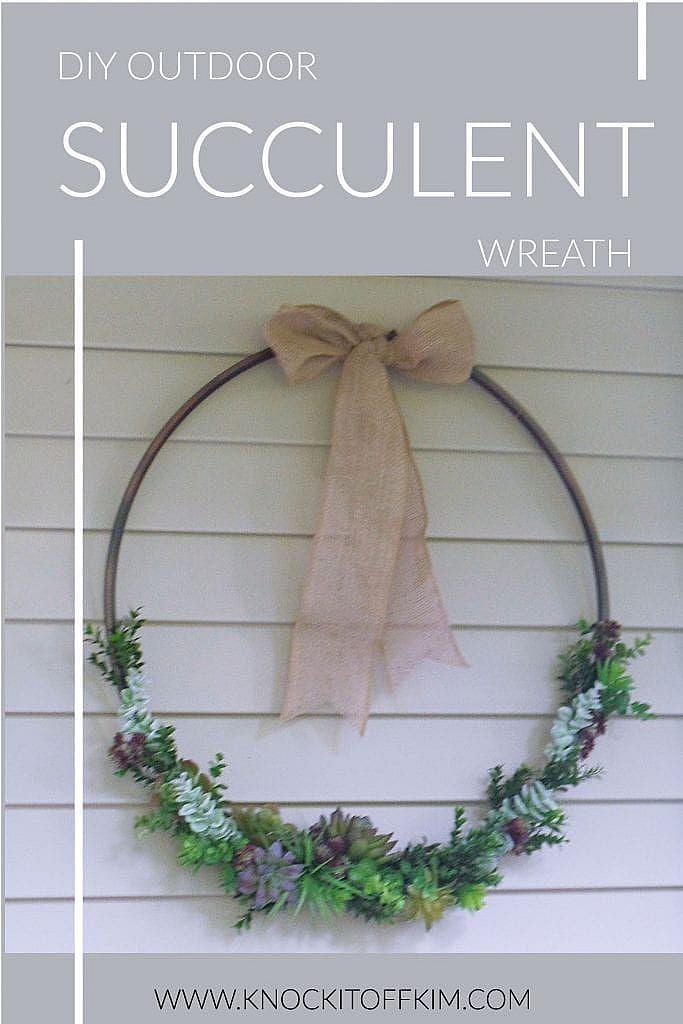 DIY Outdoor Succulent Wreath