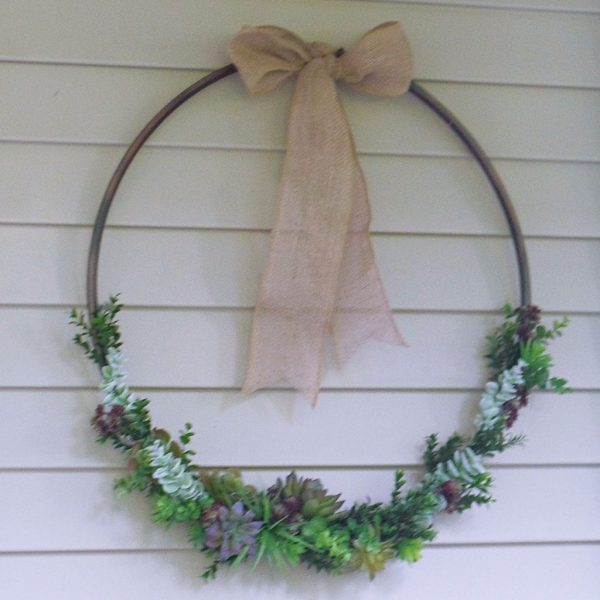 hula hoop succulent wreath_ feature