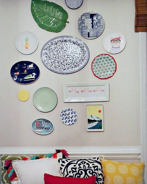 Decorative plates - plate gallery wall