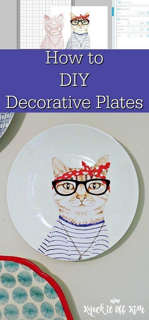 decorative plates - how to diy decorative plates