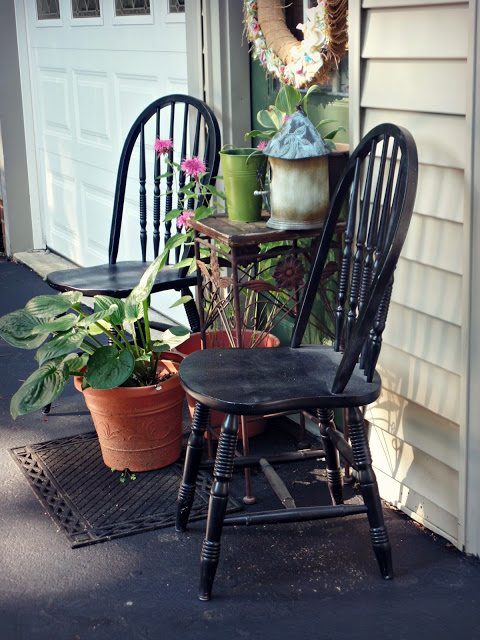 Outdoor seating ideas using items from around your home.