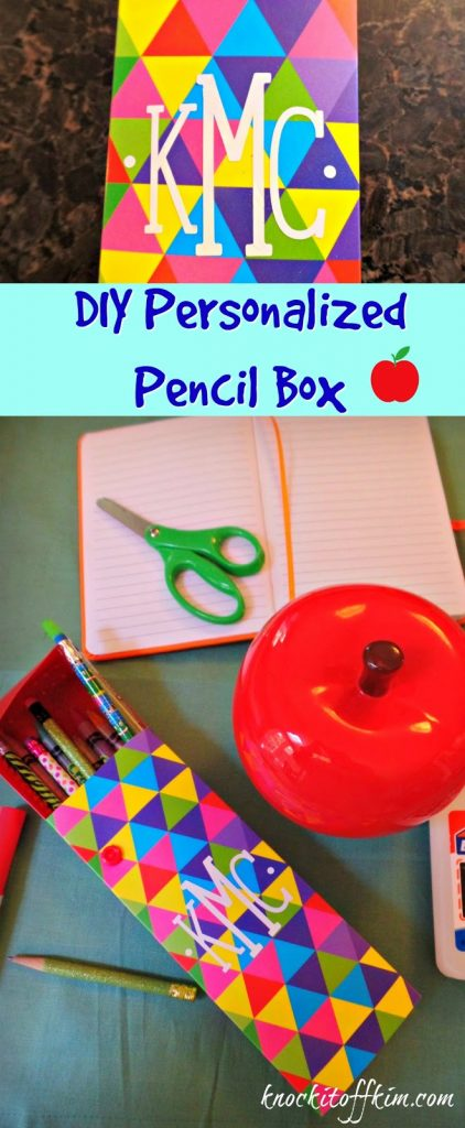 DIY Personalized Pencil Box