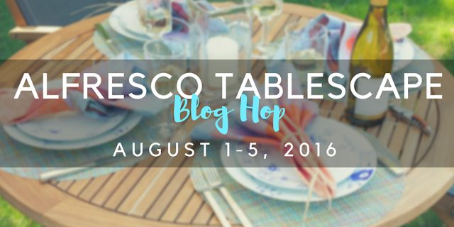 summer alfresco dining table